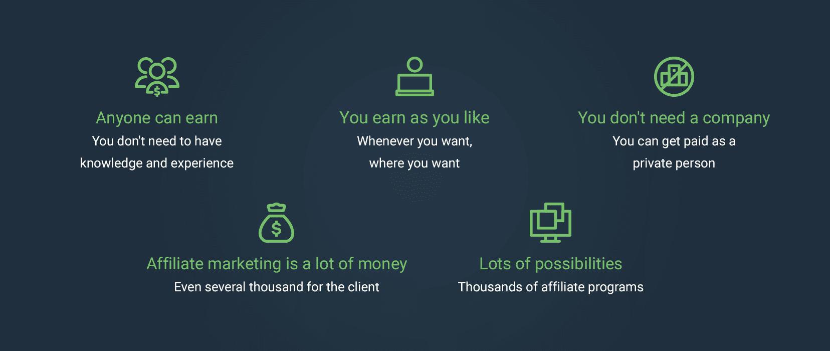 Advantages of affiliate marketing