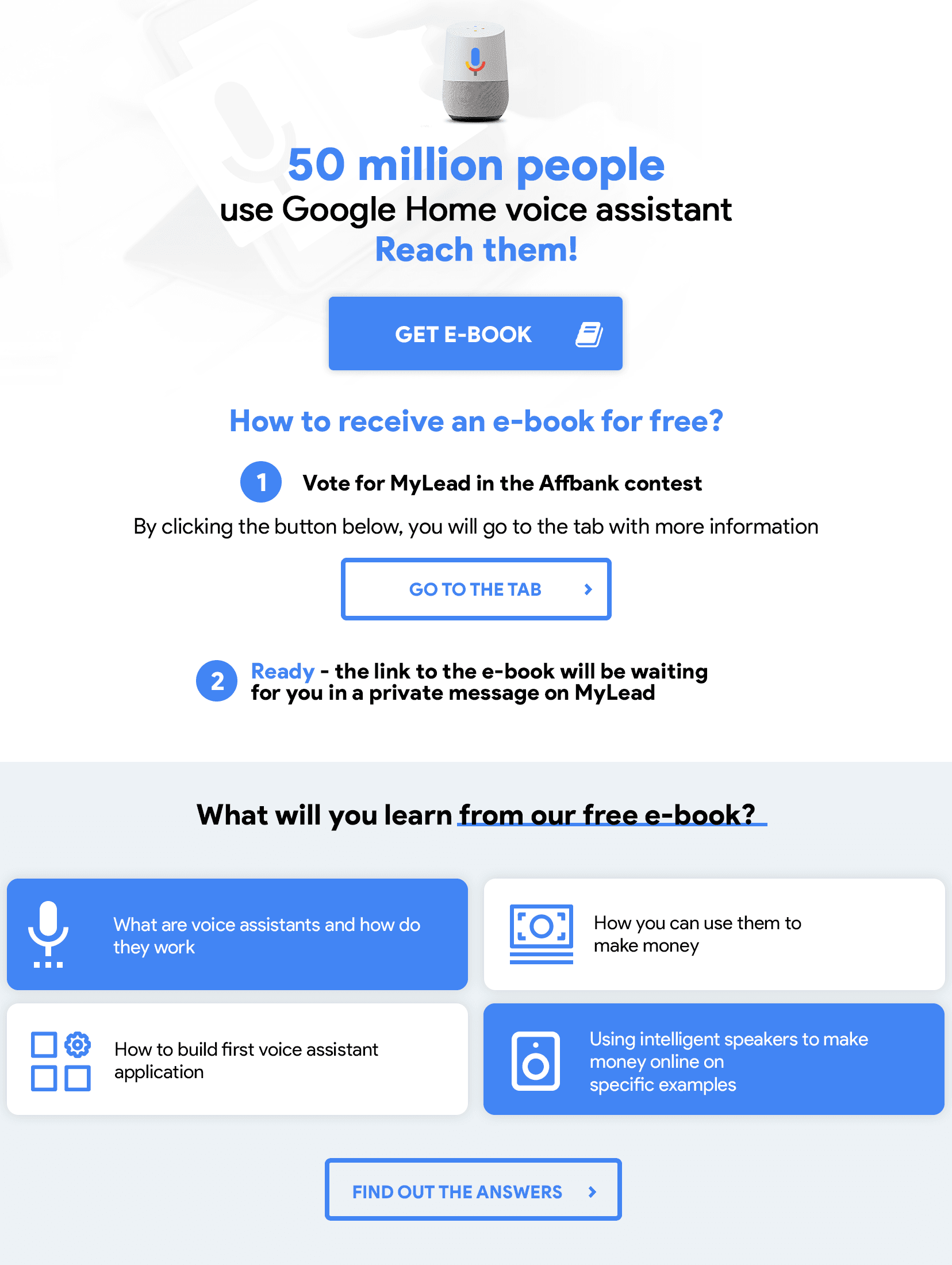 E-book - how to use voice assistants in affiliate marketing
