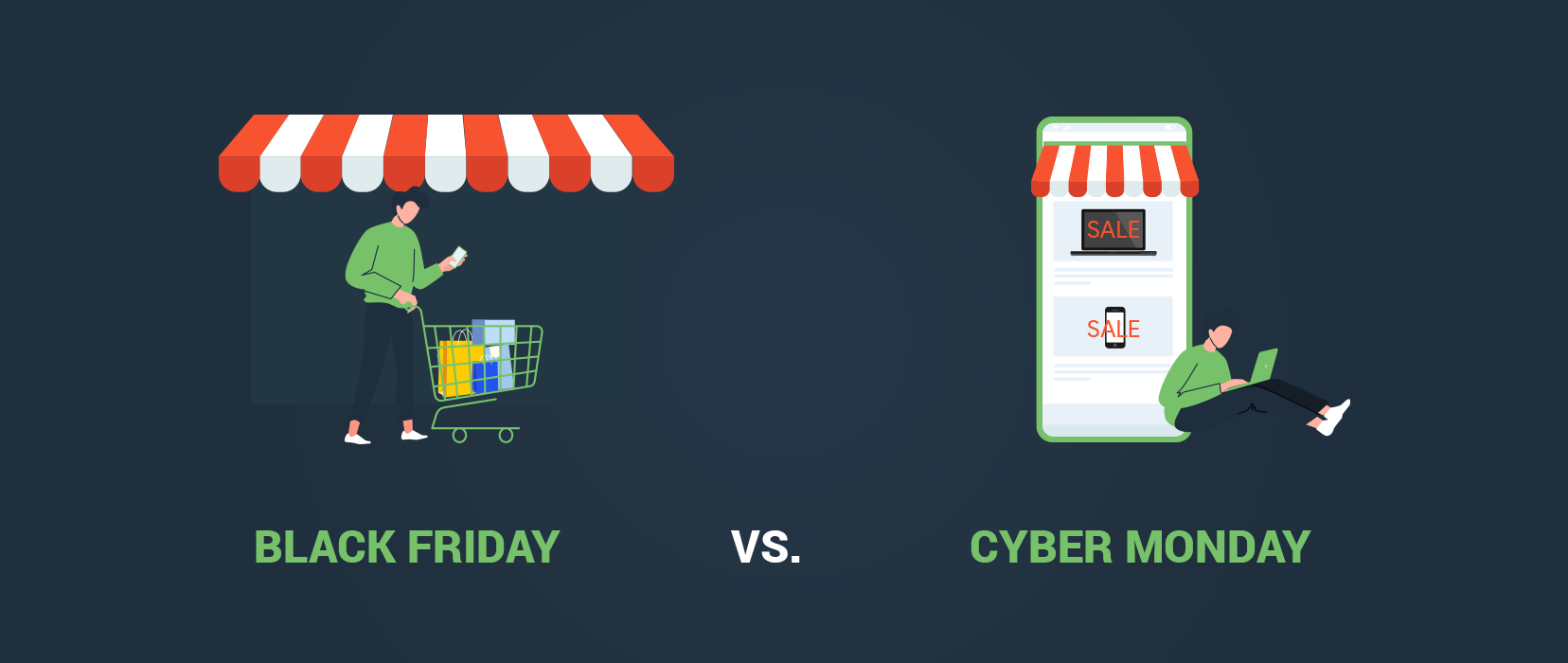 Comparision between Black Friday and Cyber Monday
