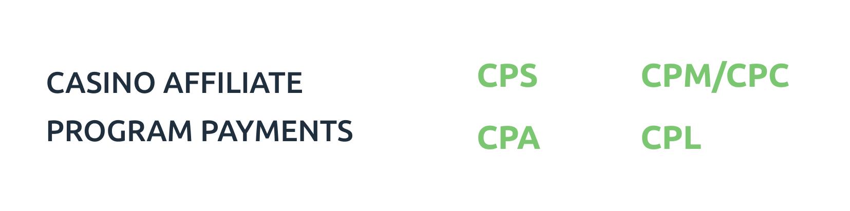 casino affiliate program payments