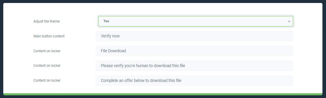 Advanced settings of file locker