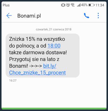 SMS sprzedażowy