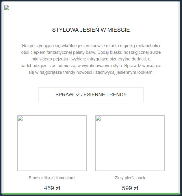 Grafiki zamieszczone w newsletterze