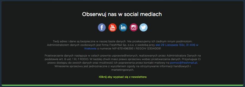 Social media w newsletterze