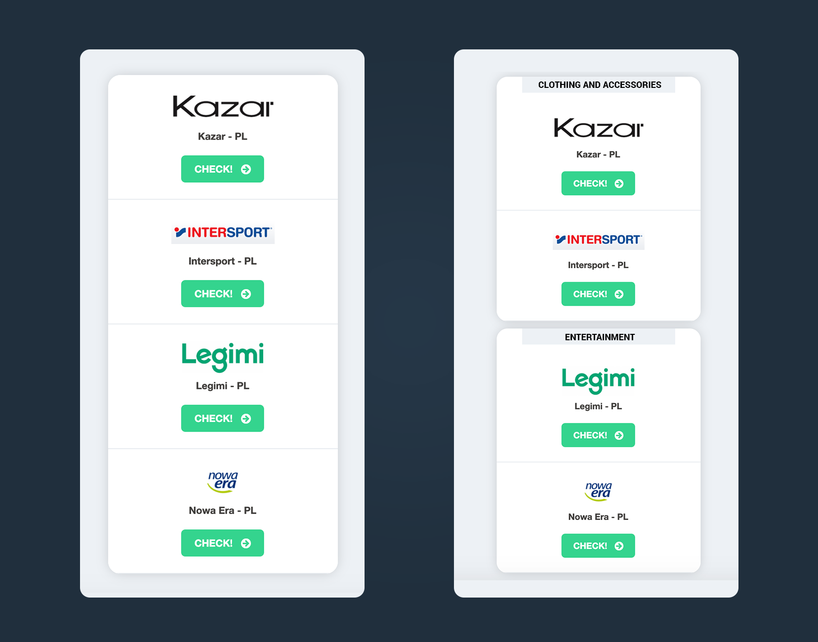how to configure offers page