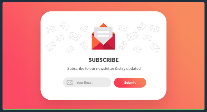 Subscribe newsletter via landing page