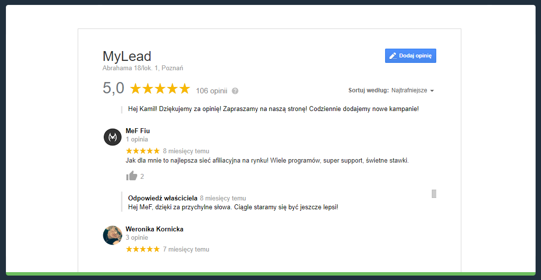 Reviews about MyLead